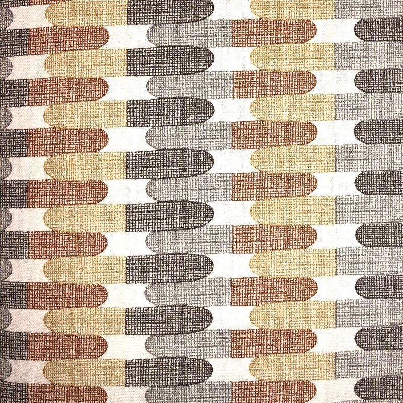 "Plutus Brands Gladstone Tiles Multicolor Luxury Throw Pillow 18"" x 18"" (PBRA2278-1818-DP)"