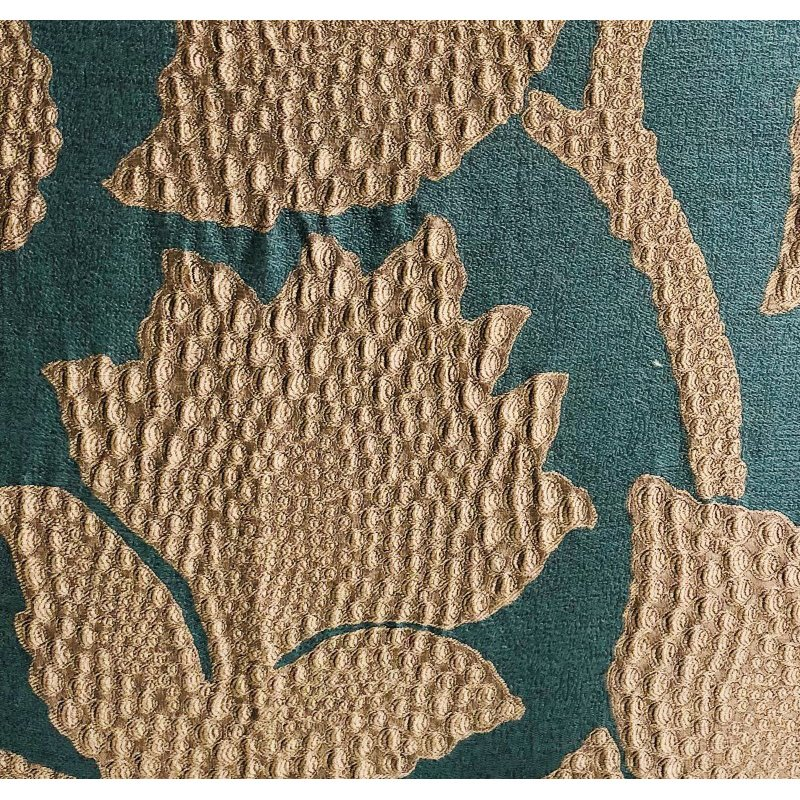 "Plutus Brands Golden Arabella Vine in Green and Gold Luxury Throw Pillow 20"" x 36"" King (PBRA1354-2036-DP)"
