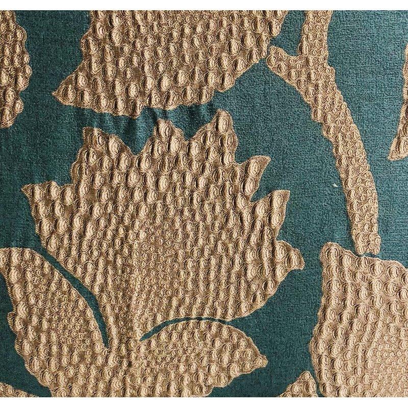 "Plutus Brands Golden Arabella Vine in Green and Gold Luxury Throw Pillow 26"" x 26"" (PBRA1354-2626-DP)"