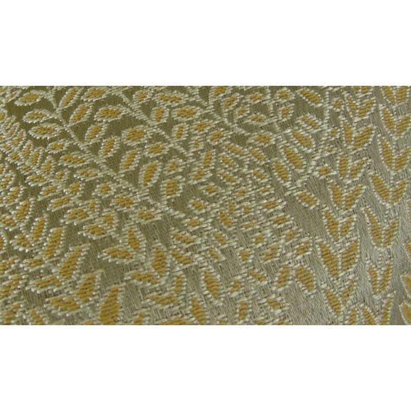 """Plutus Brands Golden Vineyard Gold Handmade Luxury Pillow 18"""" x 18"""" (PBRAZ015-1818-DP)"""