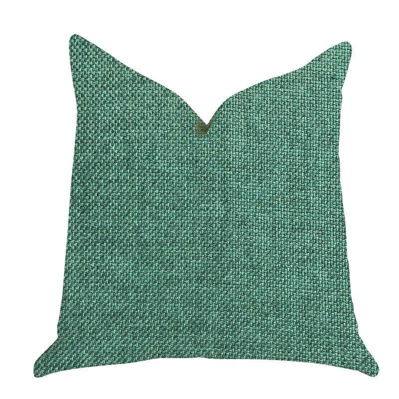 """Plutus Brands Grass Seed Luxury Throw Pillow in Green Pillows 26"""" x 26"""" (PBRA1402-2626-DP)"""