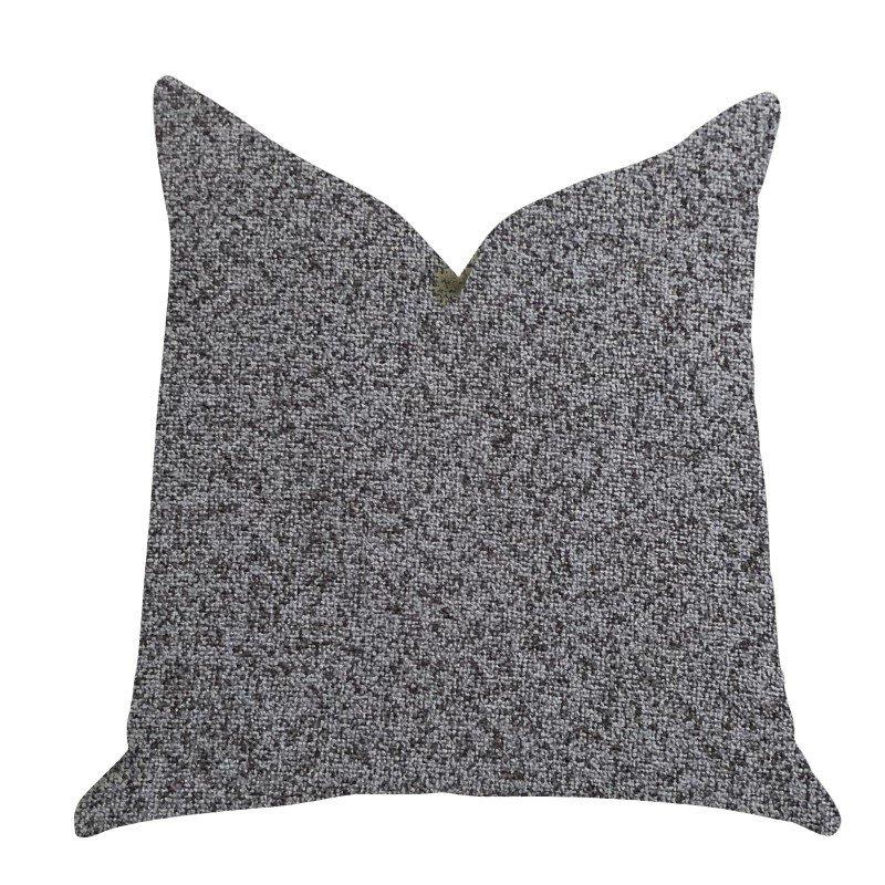 "Plutus Brands Gray Dove Luxury Throw Pillow in Gray Tones Pillows 20"" x 26"" Standard (PBRA1403-2026-DP)"