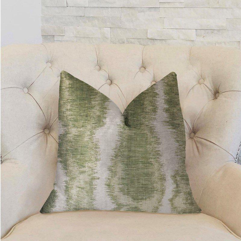 "Plutus Brands Green Haven Green and Beige Luxury Throw Pillow 26"" x 26"" (PBRA2288-2626-DP)"