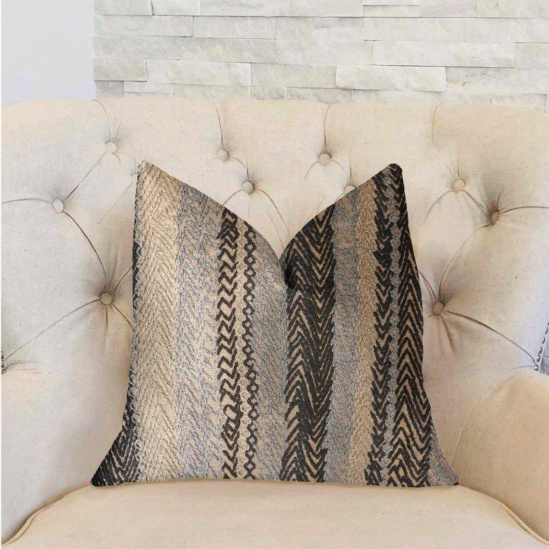 "Plutus Brands Grey Horizon Blue and Gray Luxury Throw Pillow 20"" x 20"" (PBRA2328-2020-DP)"