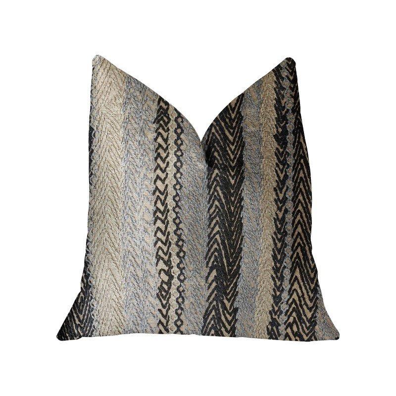 "Plutus Brands Grey Horizon Blue and Gray Luxury Throw Pillow 20"" x 26"" Standard (PBRA2328-2026-DP)"