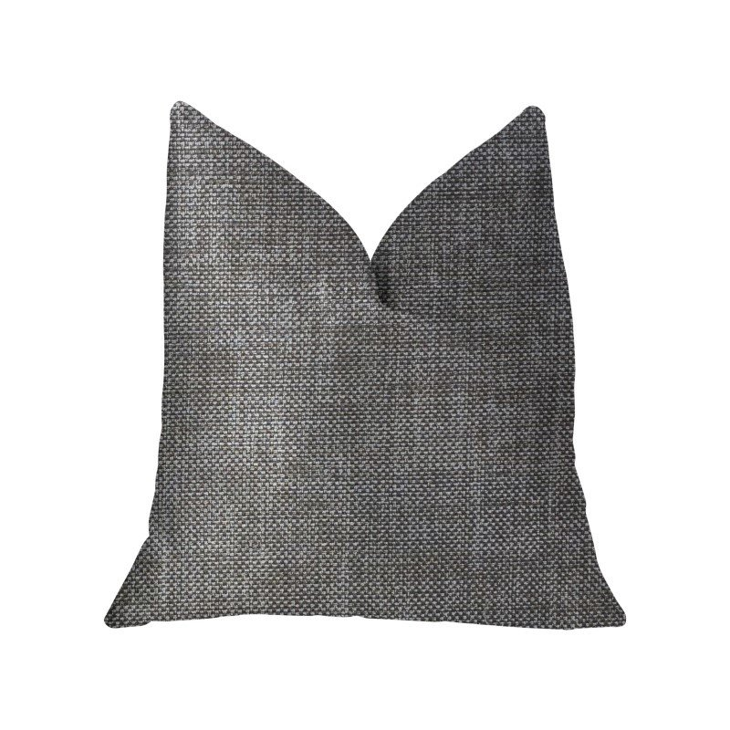 "Plutus Brands Grey Pebble Silver Luxury Throw Pillow 22"" x 22"" (PBKR1965-2222-DP)"
