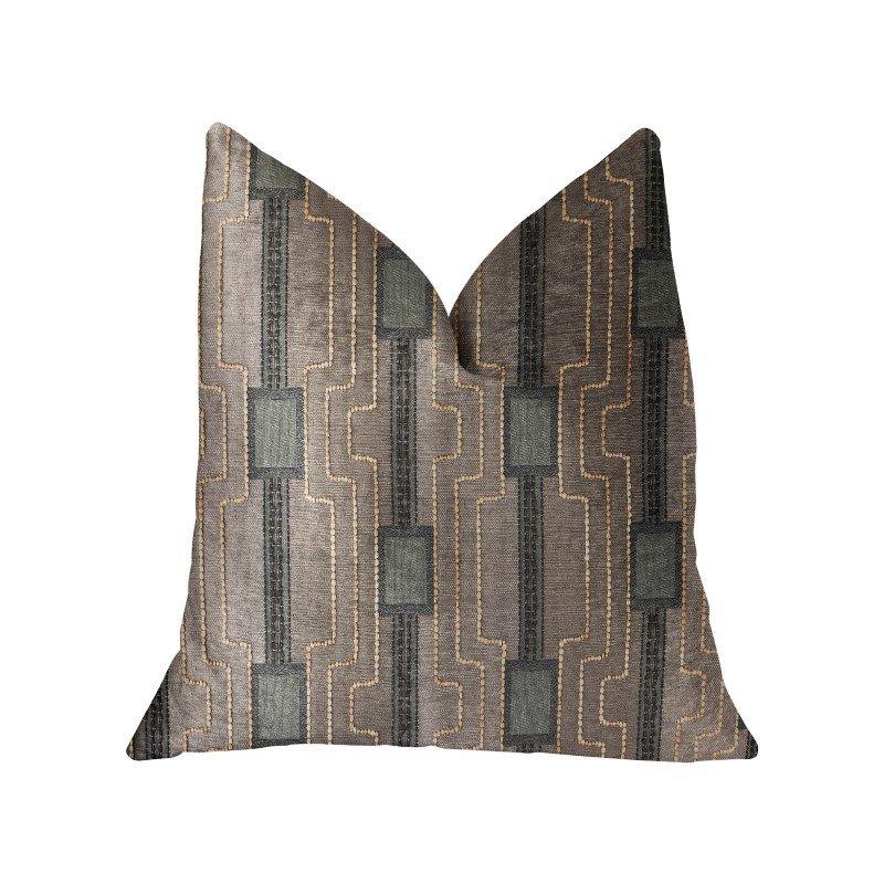 "Plutus Brands Gusto Square Blue Luxury Throw Pillow 26"" x 26"" (PBRA2324-2626-DP)"