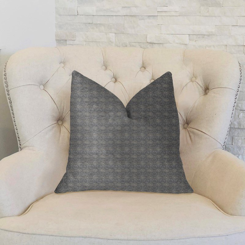 """Plutus Brands Halo Knights Blue and Gray Luxury Throw Pillow 22"""" x 22"""" (PBKR1948-2222-DP)"""