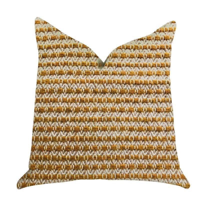 "Plutus Brands Hamilton Braid Brown Tones Luxury Throw Pillow 20"" x 26"" Standard (PBRA1315-2026-DP)"