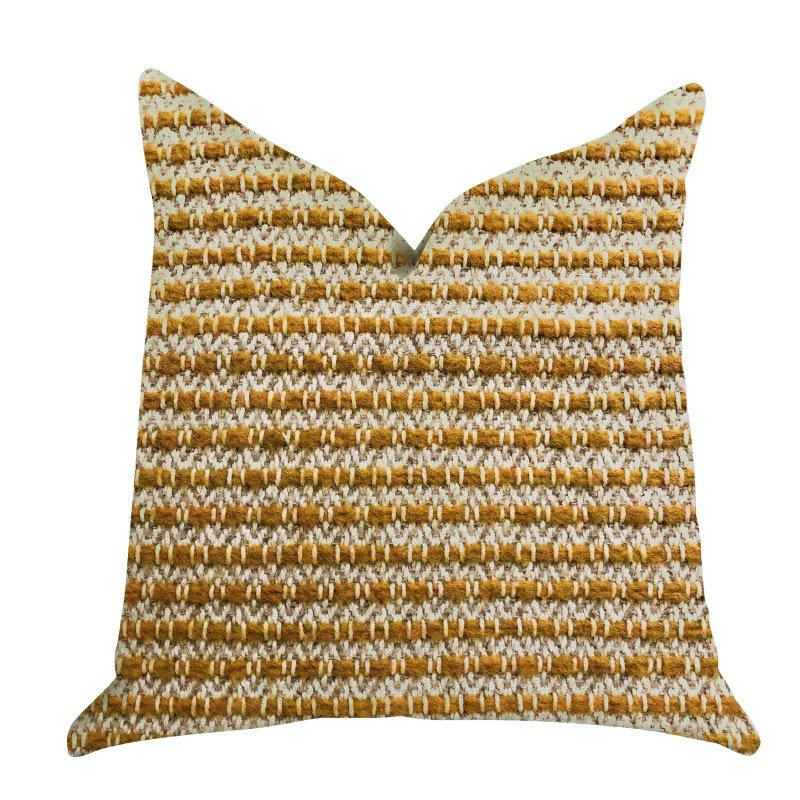 "Plutus Brands Hamilton Braid Brown Tones Luxury Throw Pillow 20"" x 30"" Queen (PBRA1315-2030-DP)"