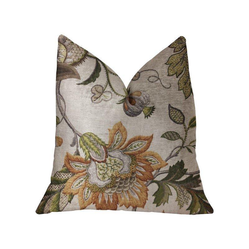 "Plutus Brands Harmony Meadows Multicolor Luxury Throw Pillow 20"" x 20"" (PBRA2273-2020-DP)"
