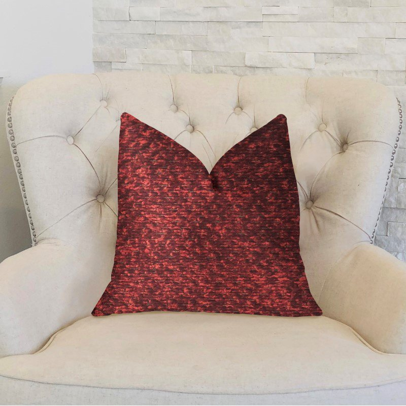 "Plutus Brands Hibiscus Burgundy Red Luxury Throw Pillow 26"" x 26"" (PBKR1969-2626-DP)"