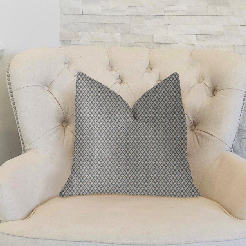 "Plutus Brands Highland Ridge Yellow Blue and Ivory Luxury Throw Pillow 24"" x 24"" (PBKR1935-2424-DP)"