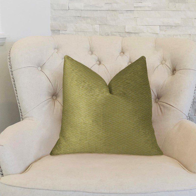 """Plutus Brands Honey Praire Yellow and Cream Handmade Luxury Pillow 24"""" x 24"""" (PBRAZ243-2424-DP)"""