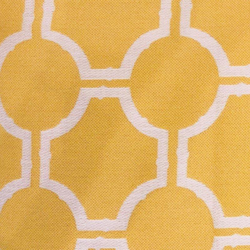"Plutus Brands Honeycomb Yellow and Beige Luxury Throw Pillow 20"" x 20"" (PBRA2317-2020-DP)"