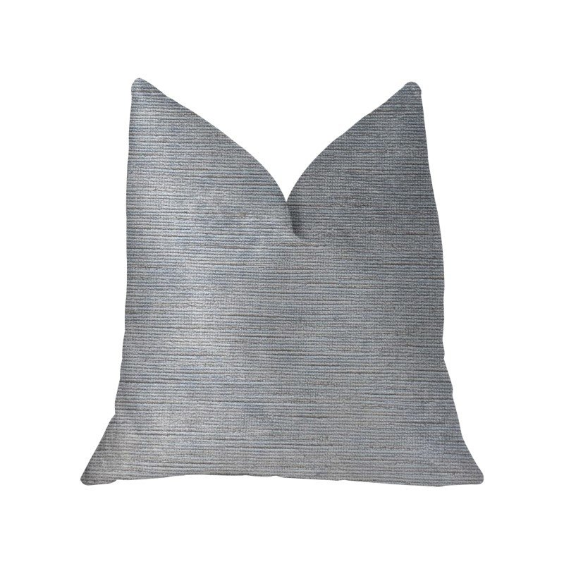 """Plutus Brands Icy Sky Blue and Silver Luxury Throw Pillow 20"""" x 30"""" Queen (PBKR1918-2030-DP)"""