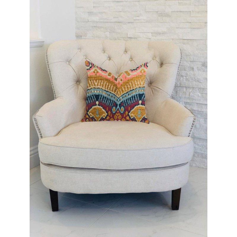 "Plutus Brands Ikat Anika Luxury Throw Pillow 22"" x 22"" (PBRA1322-2222-DP)"