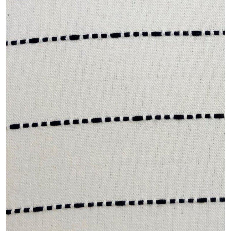 "Plutus Brands Interweave Vanilla Bean Luxury Throw Pillow in Black and White Pillows 20"" x 26"" Standard (PBRA1376-2026-DP)"
