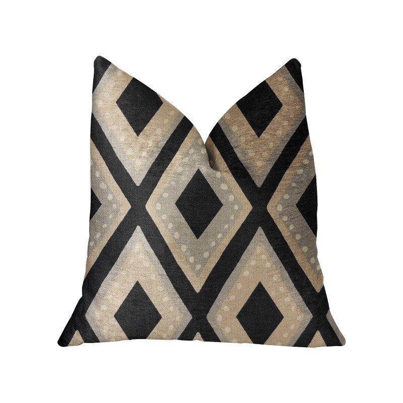 "Plutus Brands Jager Dotz Blue and Beige Luxury Throw Pillow 20"" x 30"" Queen (PBRA2220-2030-DP)"