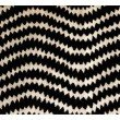 """Plutus Brands Jagged Fringe Luxury Throw Pillow in Black and Beige Pillows 20"""" x 26"""" Standard (PBRA1377-2026-DP)"""