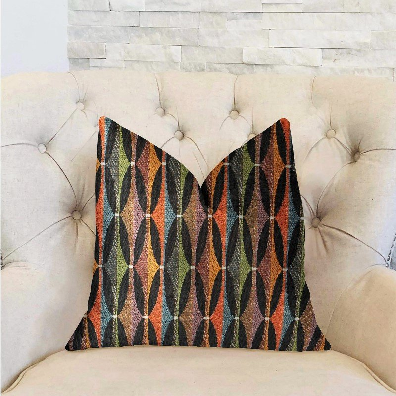 "Plutus Brands Jazzy Crystal Multicolor Luxury Throw Pillow 16"" x 16"" (PBRA2212-1616-DP)"