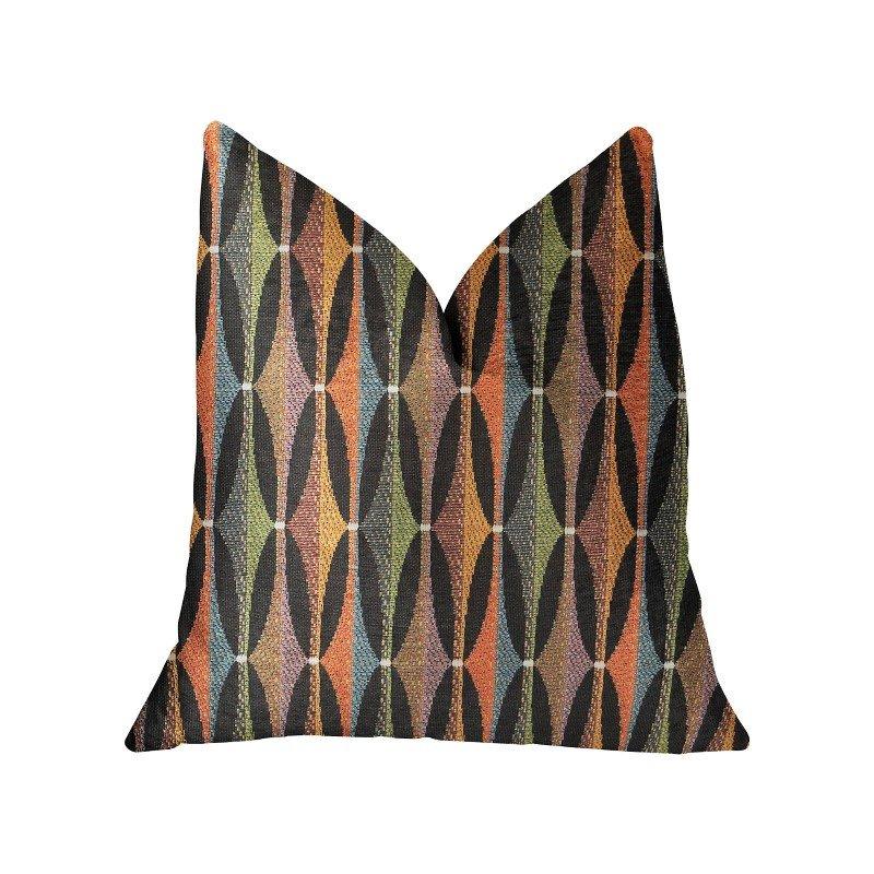 "Plutus Brands Jazzy Crystal Multicolor Luxury Throw Pillow 20"" x 20"" (PBRA2212-2020-DP)"