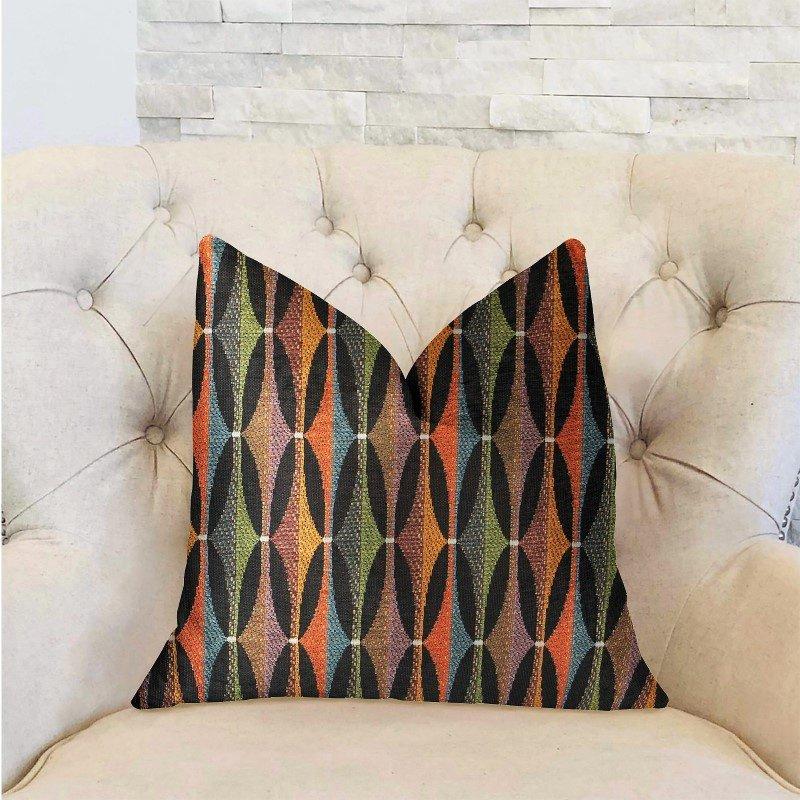 "Plutus Brands Jazzy Crystal Multicolor Luxury Throw Pillow 20"" x 30"" Queen (PBRA2212-2030-DP)"