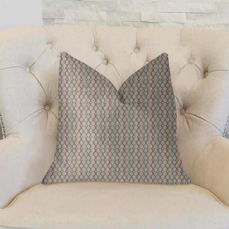 "Plutus Brands Jazzy Straw Multicolor Luxury Throw Pillow 20"" x 36"" King (PBKR1927-2036-DP)"