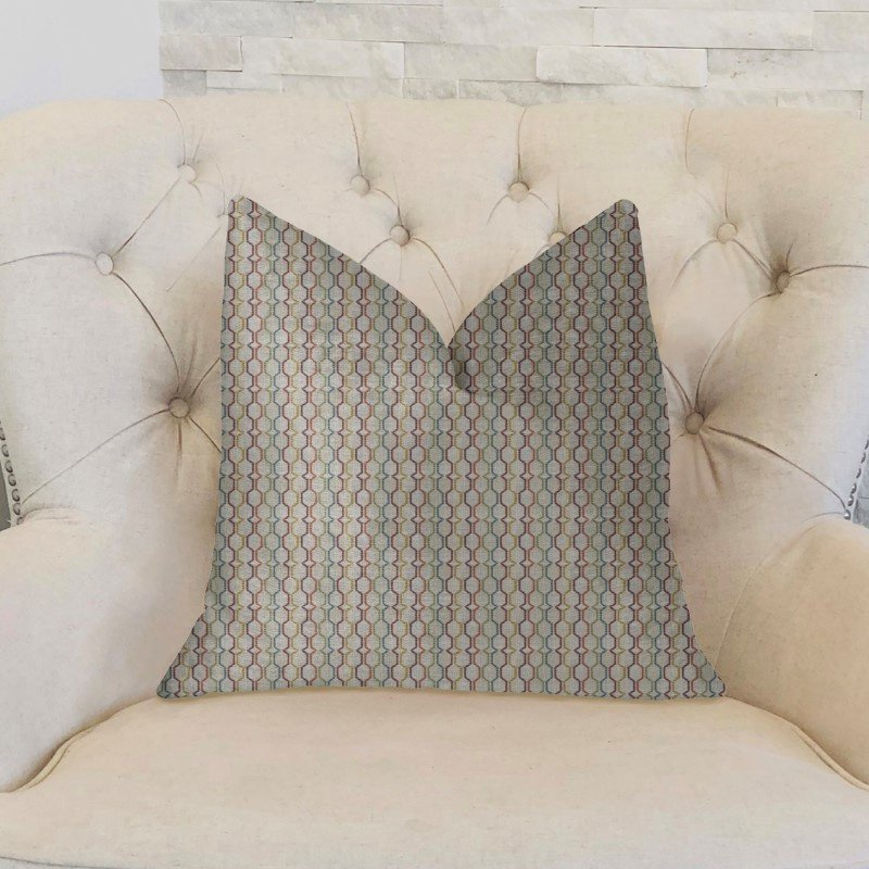 "Plutus Brands Jazzy Straw Multicolor Luxury Throw Pillow 26"" x 26"" (PBKR1927-2626-DP)"