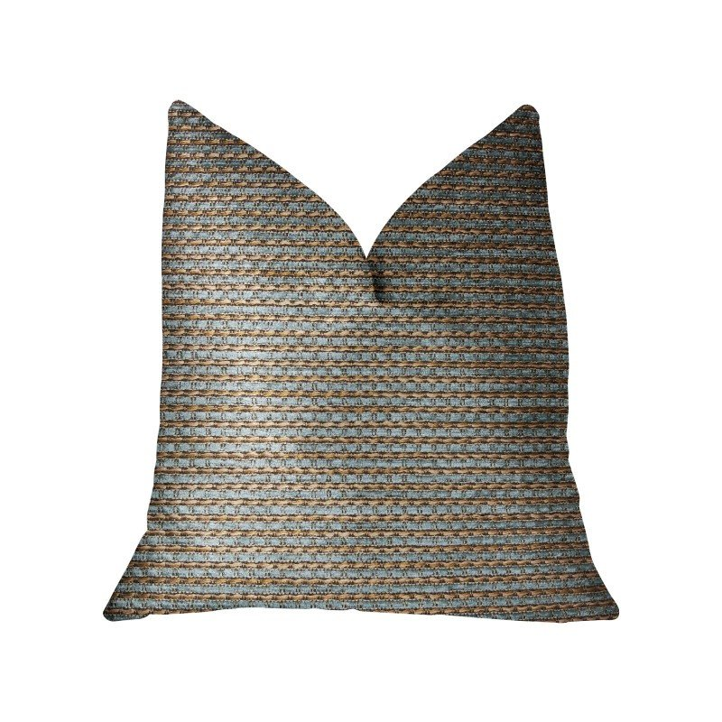 "Plutus Brands Jesper Jade Green and Beige Luxury Throw Pillow 12"" x 20"" (PBRA2290-1220-DP)"