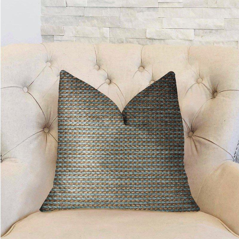 """Plutus Brands Jesper Jade Green and Beige Luxury Throw Pillow 20"""" x 30"""" Queen (PBRA2290-2030-DP)"""