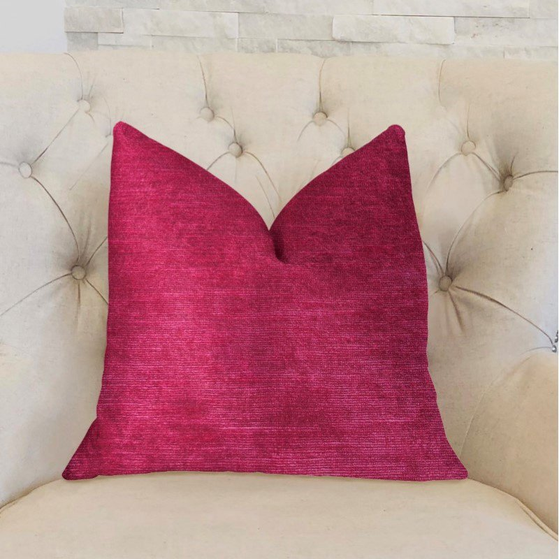 "Plutus Brands Lady Fuschia Pink Luxury Throw Pillow 20"" x 36"" King (PBKR1905-2036-DP)"
