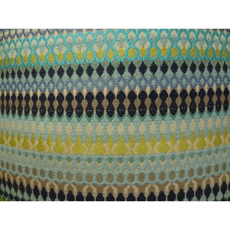 "Plutus Brands Lake Marsh Turquoise Yellow and Navy Handmade Luxury Pillow 20"" x 36"" King (PBRAZ129-2036-DP)"