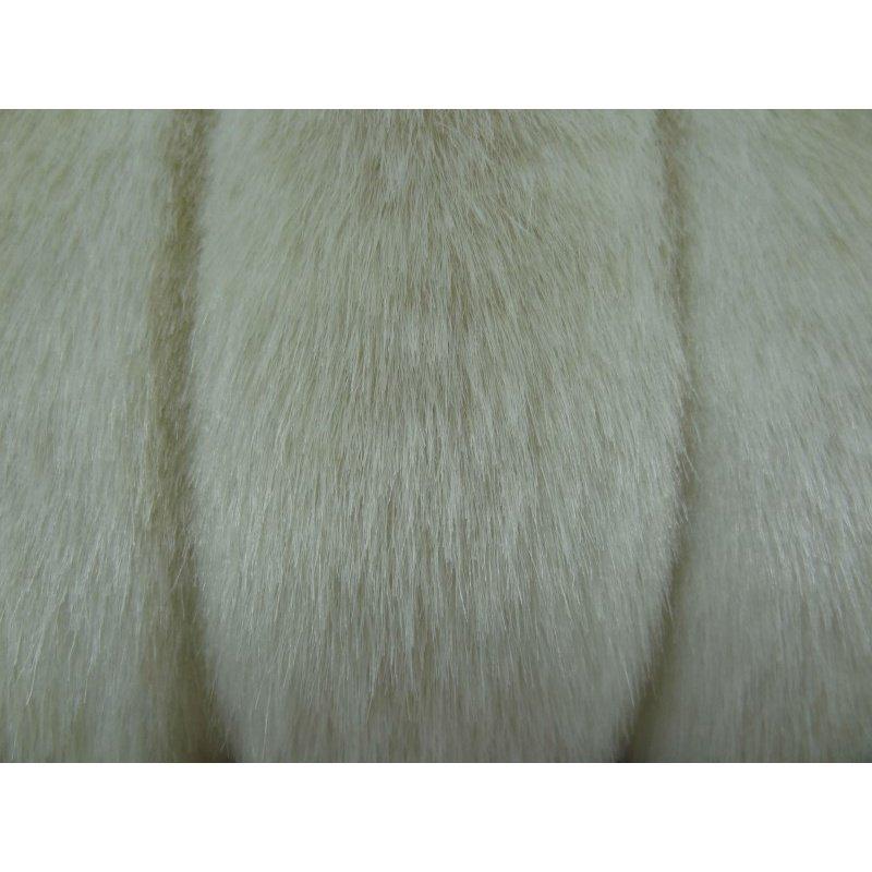 "Plutus Brands Lavish Mink Ivory Off White Handmade Luxury Pillow Double Sided 18"" x 18"" (PBRAZ470-1818-DP)"