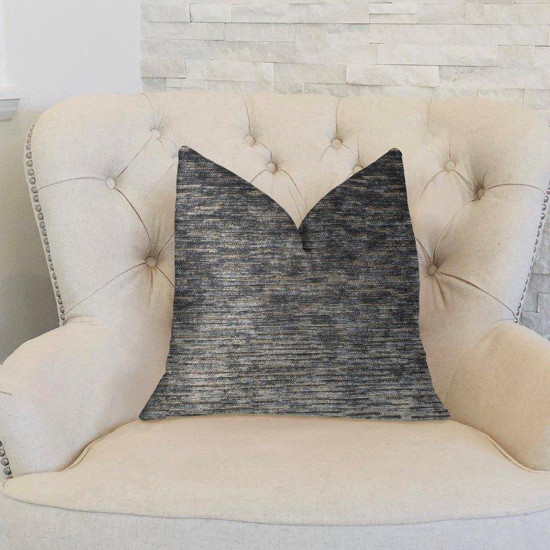 "Plutus Brands Lavish Touch Blue Luxury Throw Pillow 16"" x 16"" (PBKR1999-1616-DP)"