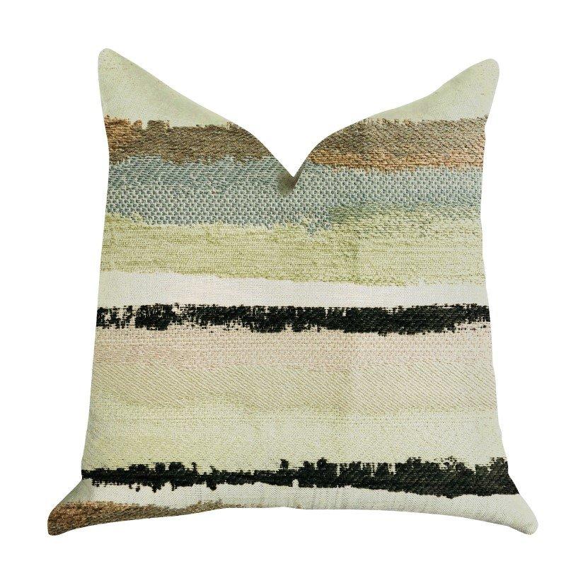 "Plutus Brands Lime Stone River Sand Multi Color Luxury Throw Pillow 20"" x 20"" (PBRA1348-2020-DP)"