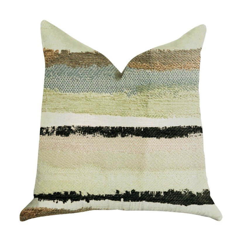 "Plutus Brands Lime Stone River Sand Multi Color Luxury Throw Pillow 24"" x 24"" (PBRA1348-2424-DP)"