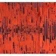 """Plutus Brands Luminous Skyscraper Luxury Throw Pillow in Orange Red Tones Pillows 26"""" x 26"""" (PBRA1379-2626-DP)"""