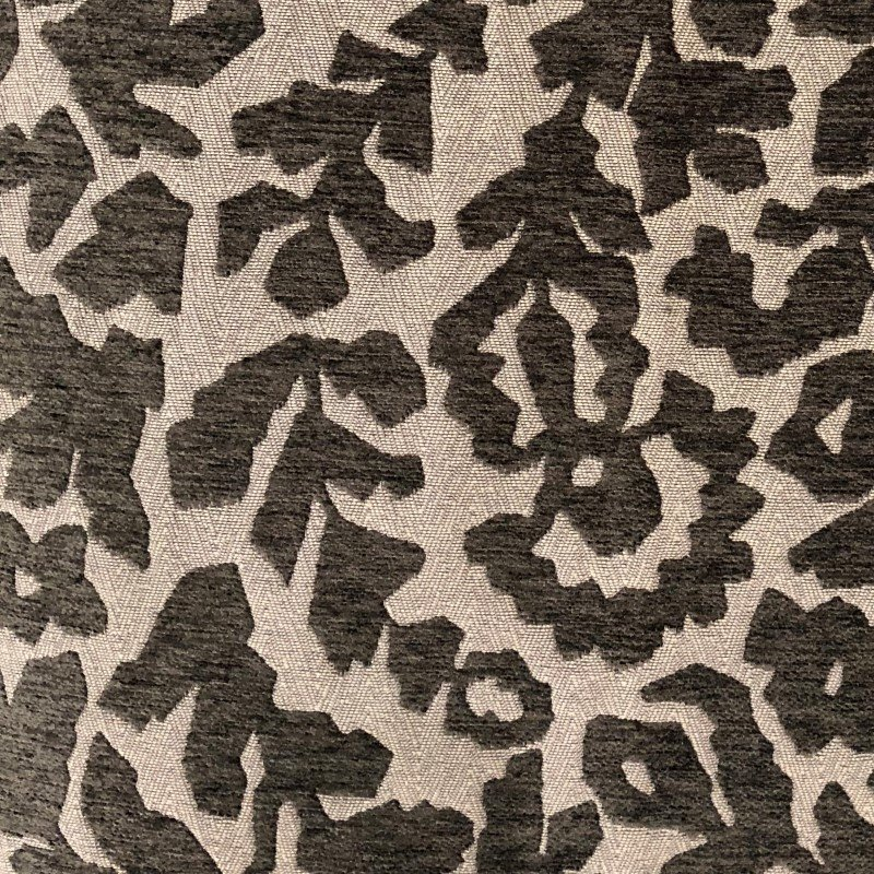 "Plutus Brands Lustrous Leaves Gray Luxury Throw Pillow 22"" x 22"" (PBRA2265-2222-DP)"
