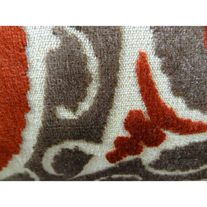 """Plutus Brands Madeline Red and Brown Handmade Luxury Pillow 16"""" x 16"""" (PBRAZ050-1616-DP)"""