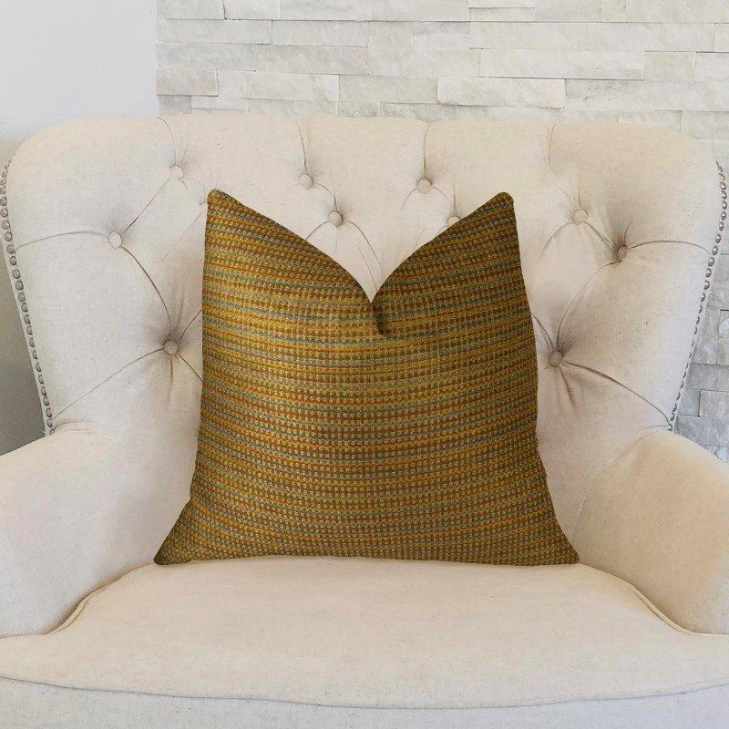 "Plutus Brands Madison Copper and Brown Handmade Luxury Pillow 20"" x 26"" Standard (PBRAZ242-2026-DP)"