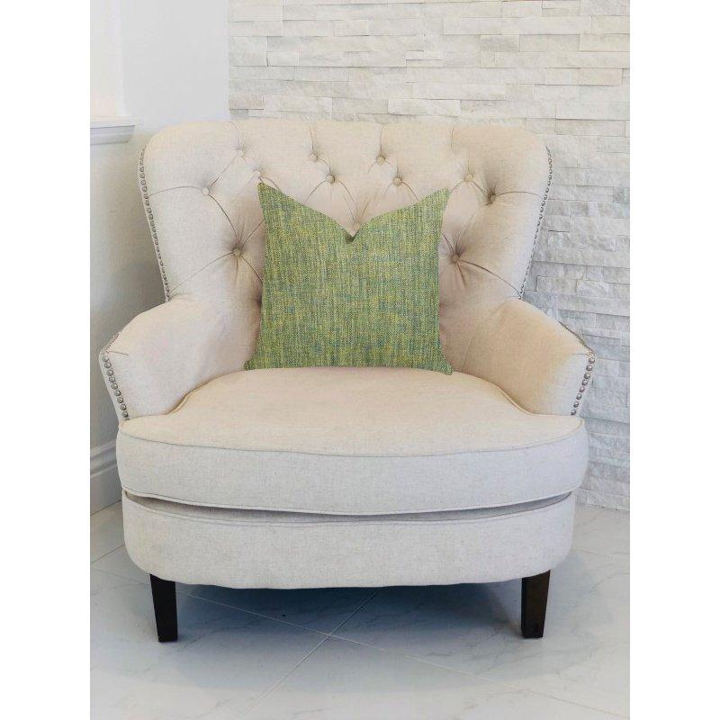 "Plutus Brands Mango Bliss Luxury Throw Pillow in Green and Yellow Tones Pillows 22"" x 22"" (PBRA1401-2222-DP)"