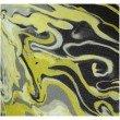 "Plutus Brands Marble Onyx Yellow Gray and Black Handmade Luxury Pillow 16"" x 16"" (PBRAZ378-1616-DP)"