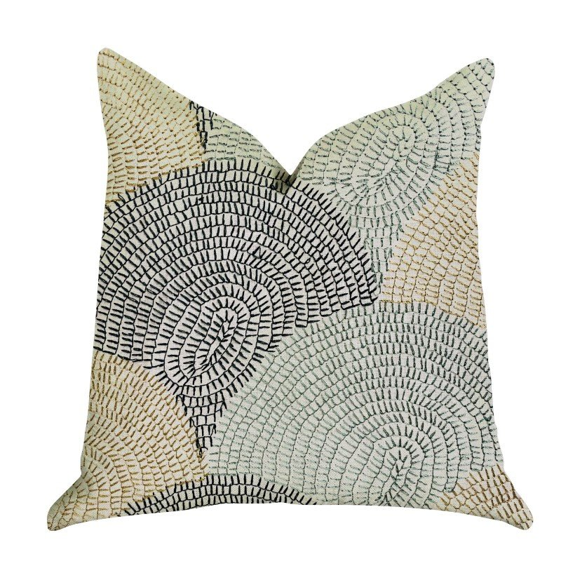 "Plutus Brands Marquee Lagoon Multiple Color Luxury Throw Pillow 12"" x 25"" (PBRA1352-1225-DP)"