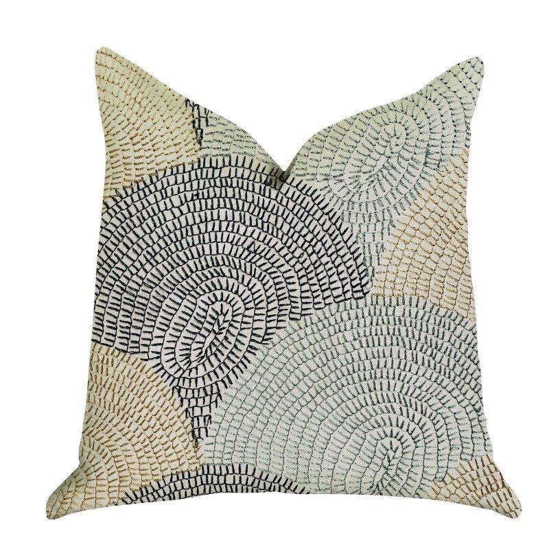 "Plutus Brands Marquee Lagoon Multiple Color Luxury Throw Pillow 24"" x 24"" (PBRA1352-2424-DP)"
