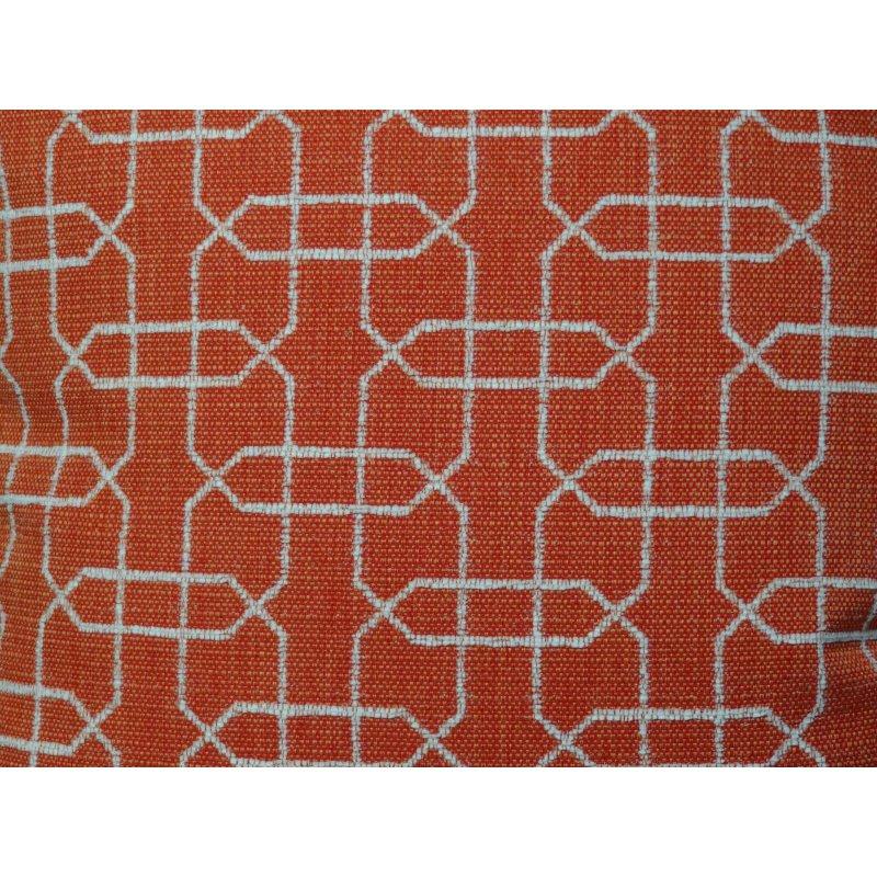 "Plutus Brands Marquette Orange and White Handmade Luxury Pillow 26"" x 26"" (PBRAZ211-2626-DP)"