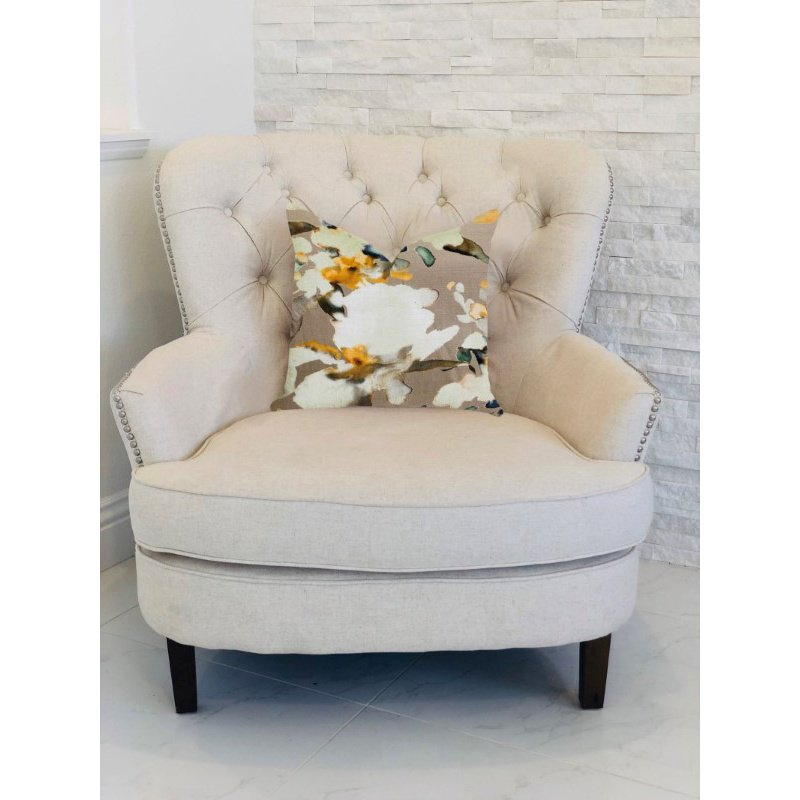 "Plutus Brands Maya De Aqua Floral Multi Color Luxury Throw Pillow 20"" x 30"" Queen (PBRA1361-2030-DP)"