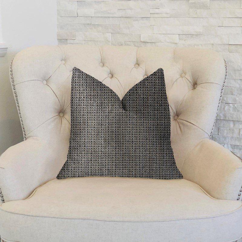 "Plutus Brands Melbourne Beige and Black Luxury Throw Pillow 26"" x 26"" (PBKR1967-2626-DP)"