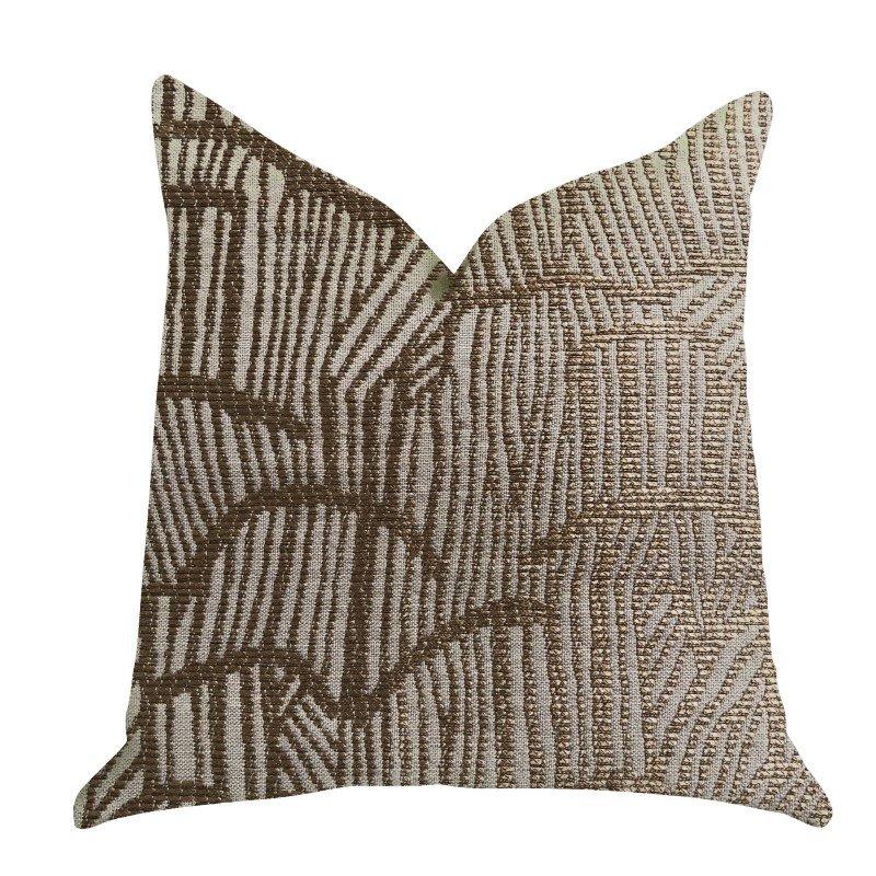 "Plutus Brands Metallic Bronze Luxury Throw Pillow 20"" x 26"" Standard (PBRA1339-2026-DP)"