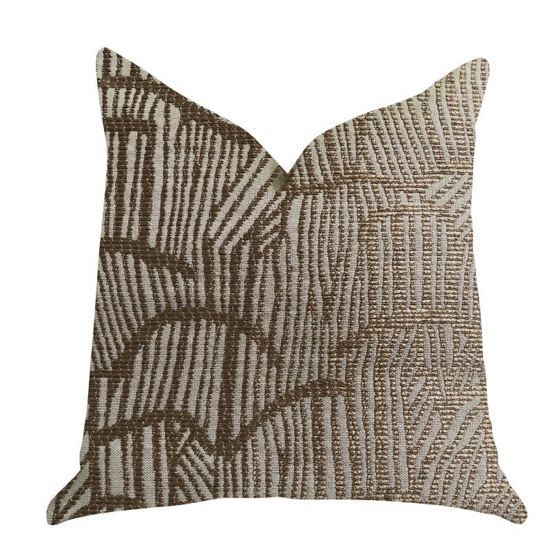 "Plutus Brands Metallic Bronze Luxury Throw Pillow 22"" x 22"" (PBRA1339-2222-DP)"
